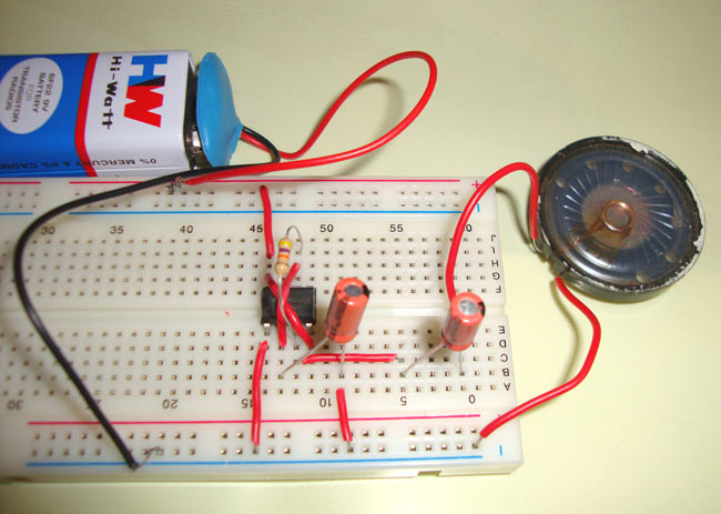 ticking sound using ic 555 rh circuitdigest com Electronic Circuit Symbols Simple Electronic Circuits