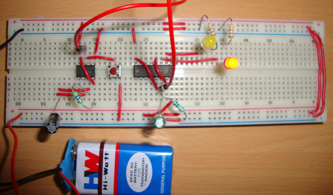 Toggle Switch Circuit using 555 Timer IC