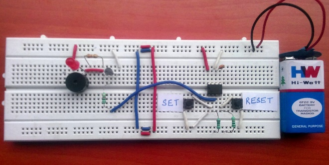 Panic Alarm Circuit using 555 Timer IC