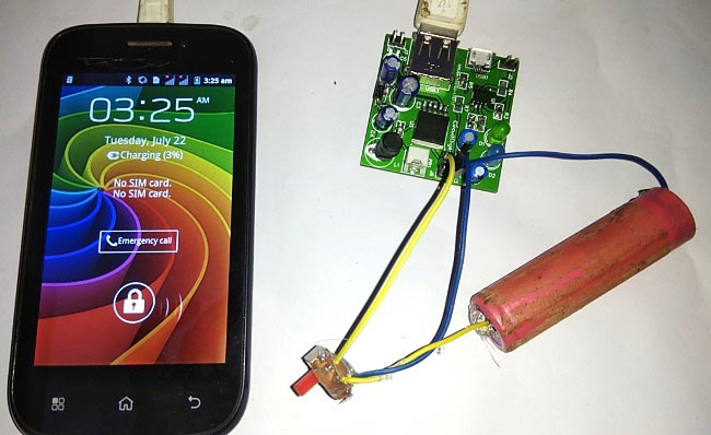 Power Bank Mobile Phone Charger Circuit on PCB