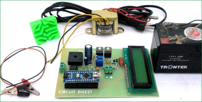 12v battery charger circuit diagram using lm317 12v power supply rh circuitdigest com Power Supply Circuit Project Charter