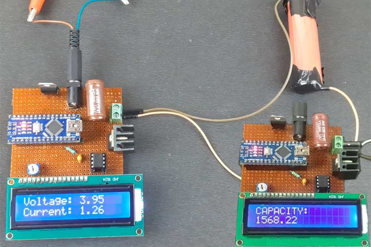 18650 Lithium Battery Capacity Tester using Arduino