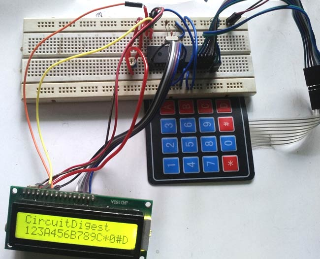 Enjoyable 4X4 Matrix Keypad Interfacing With Pic Microcontroller Pic16F877A Wiring Database Redaterrageneticorg