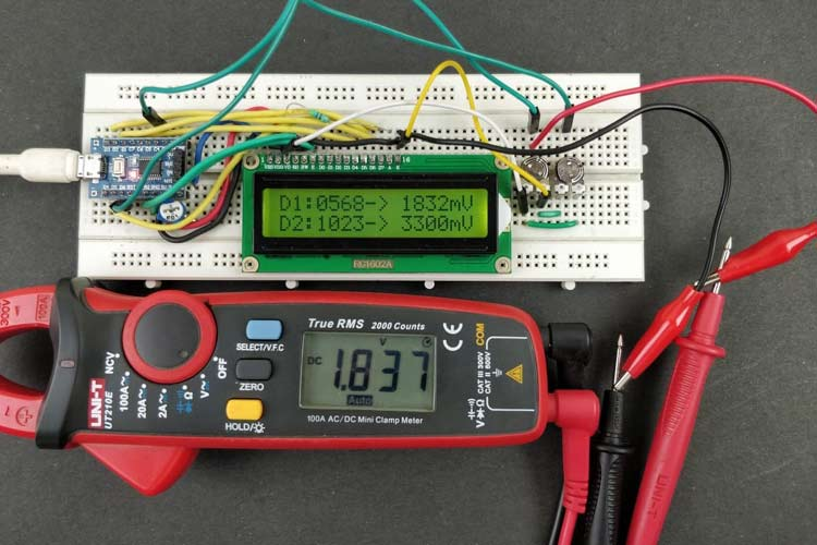 ADC on STM8S Microcontroller with COMIC C Compiler