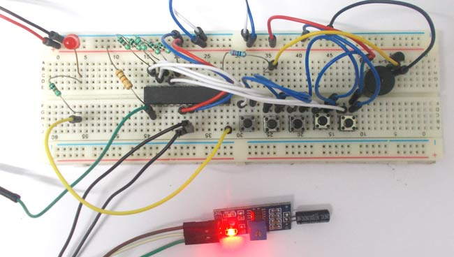 Theft Alert System using ATmega8 Microcontroller and Tilt Sensor