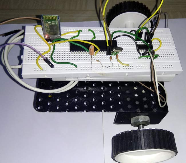 Android Controlled Robot using 8051 Micro-controller