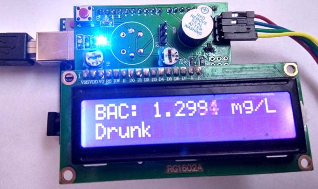 Arduino Alcohol Detector Circuit Board