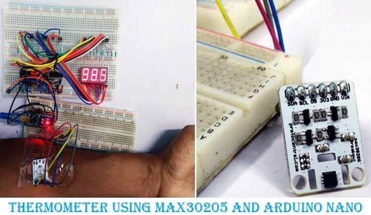 Arduino Based Digital Thermometer using MAX30205 Human Body Temperature Sensor