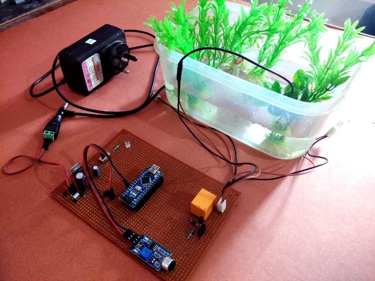 Arduino Controlled Water Fountain using Sound Sensor