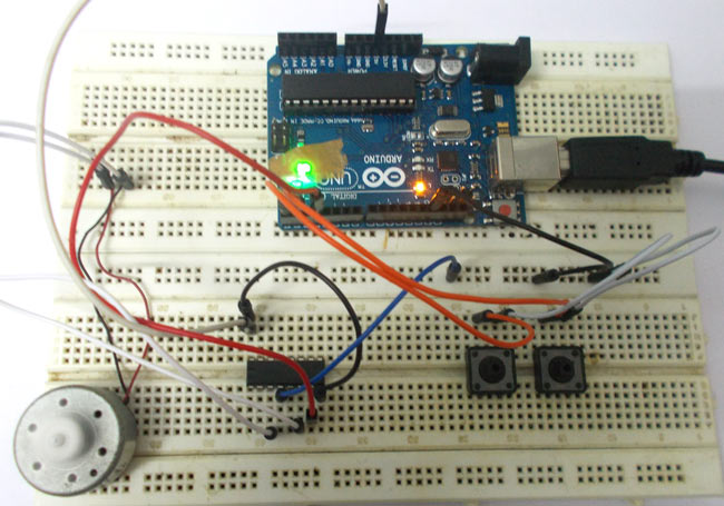 DC Motor Speed Control using Arduino Uno
