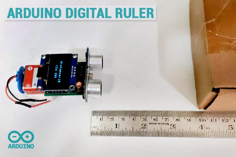 Arduino Portable Ultrasonic Digital Ruler using ATtiny85