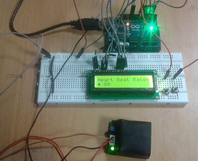 Arduino Based Heart Rate Monitor Project