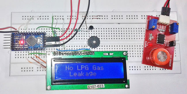 LPG Gas Leakage Detector using Arduino