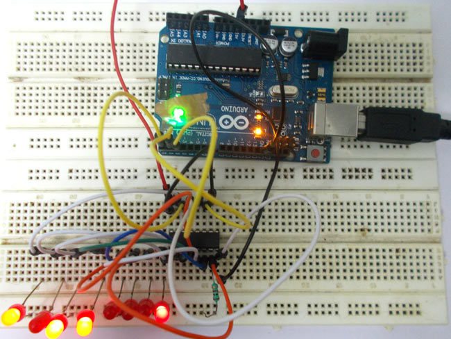 Arduino Uno Shift Register Tutorial