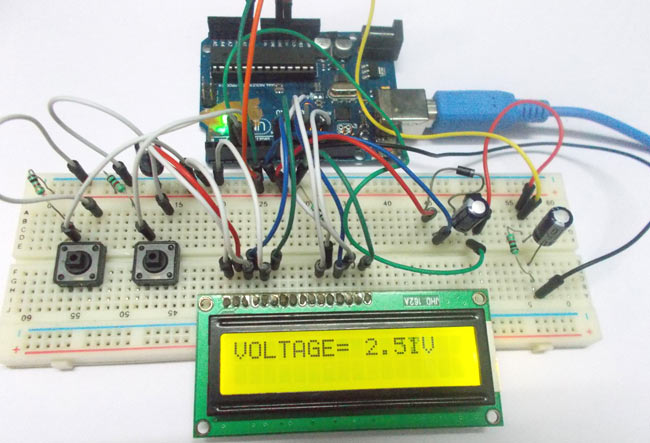 Arduino based variable power supply circuit diagram and code