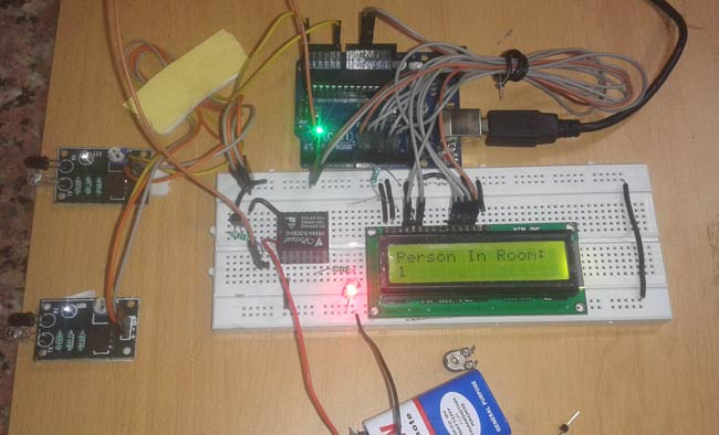 Arduino Based Visitor Counter with Automatic Light Control