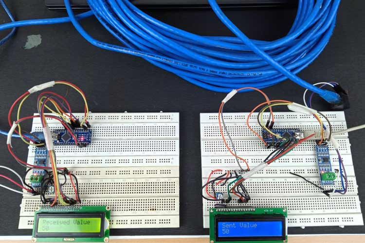 Arduino Wired Serial Communication using RS485 and CAT Cables