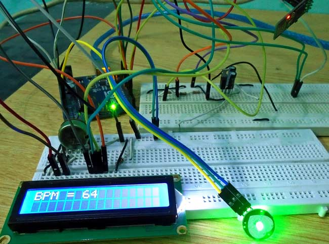 Iot Project Heart Beat Monitoring Over Internet Using