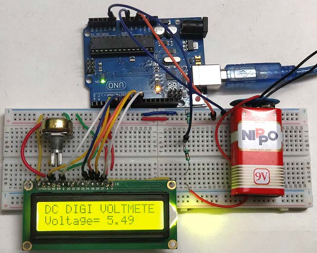 Simple Arduino Digital Voltmeter