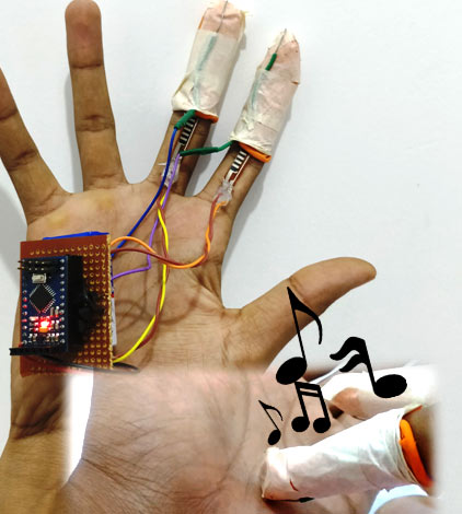 Generating Tones by Tapping Fingers using Arduino