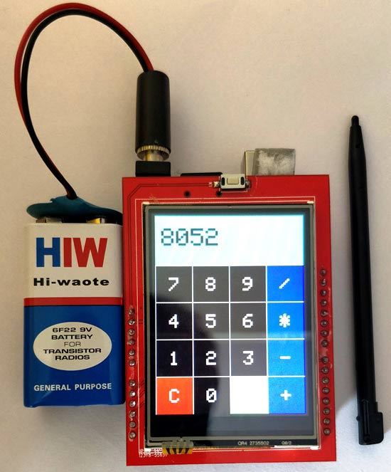 Arduino Touch Screen Calculator Project with Code