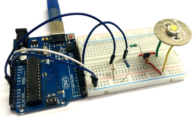 of using Arduino Auto Power Control Intensity LED hdtrQsC