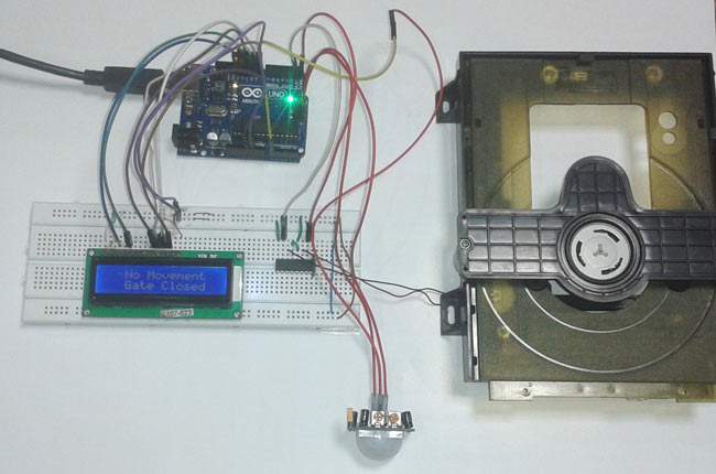 Automatic Door Opener Project Using Pir Sensor And Arduino