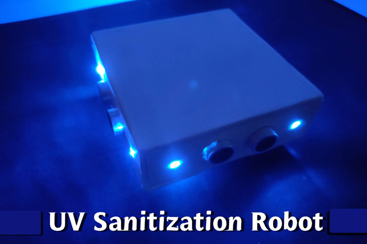 Automatic Surface Disinfecting Robot Using Arduino