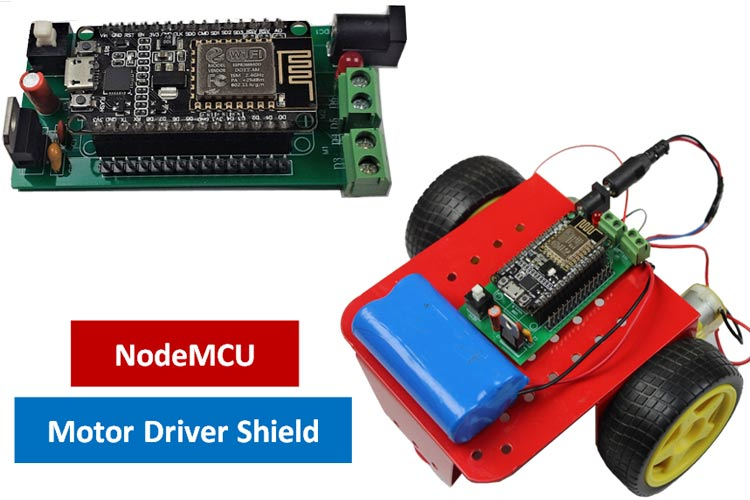 DIY Battery Powered NodeMCU Motor Driver Shield using L293D for Robotic Applications