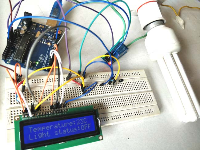Control Relay using Arduino based on Temperature