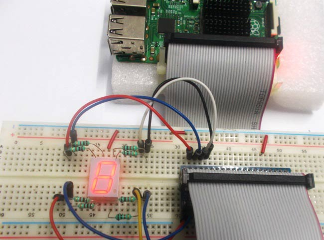 Raspberry Pi 7 Segment Display Interfacing Tutorial