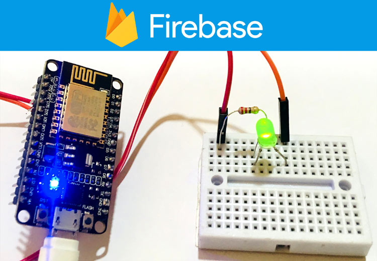IoT Firebase controlled LED using ESP8266 NodeMCU