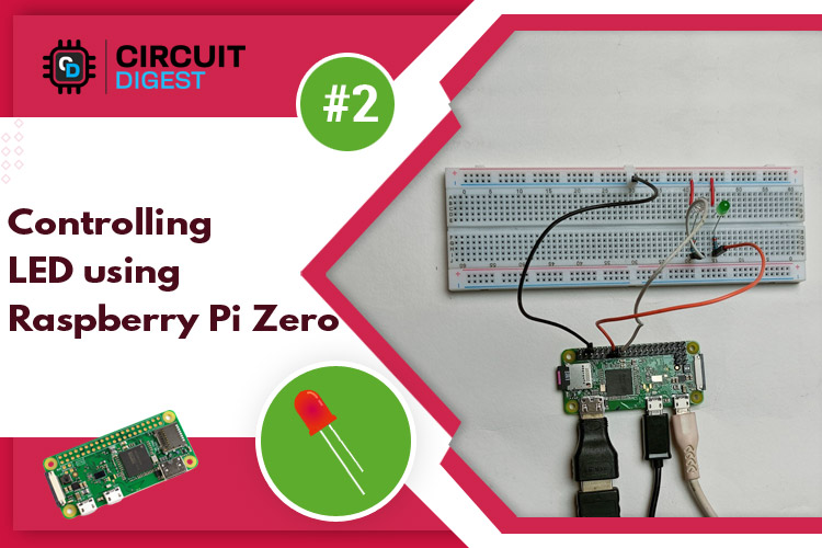 Controlling LED using Raspberry Pi Zero W