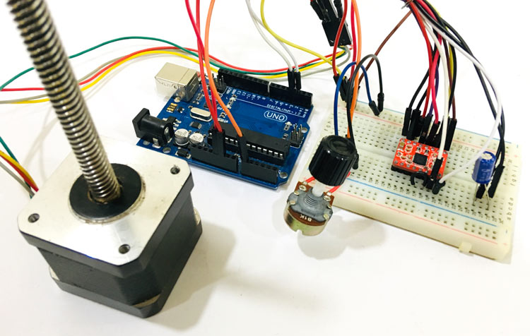 Controlling NEMA 17 Stepper Motor with Arduino and Potentiometer