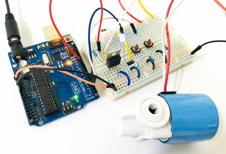 How to control a Solenoid Valve with Arduino