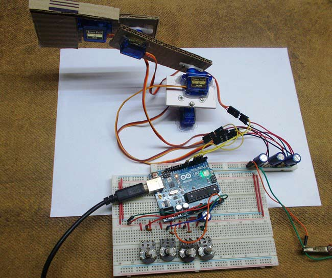 Diy arduino robotic arm project with circuit diagram code