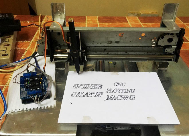 Diy arduino uno cnc plotter machine project with code and