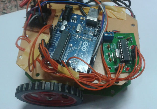 Dtmf controlled robot using arduino complete project with