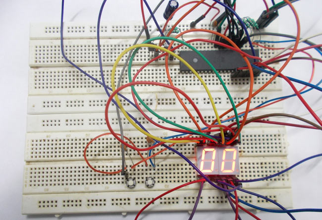 Interfacing 7 Segment Display with AVR microcontroller - 0-99