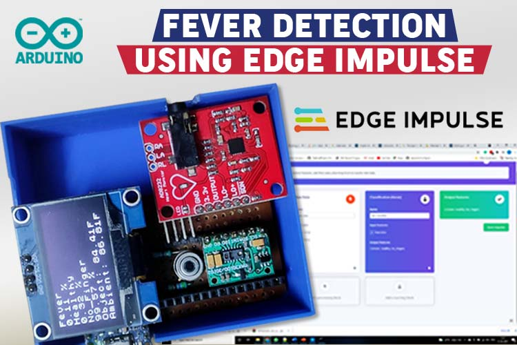 Fever Detection using Edge Impulse Traing Model and Arduino