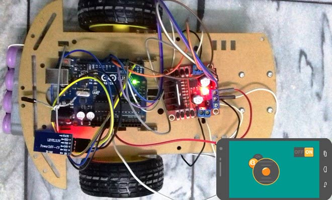 Mobile Phone Controlled Robot Car using G-Sensor and Arduino
