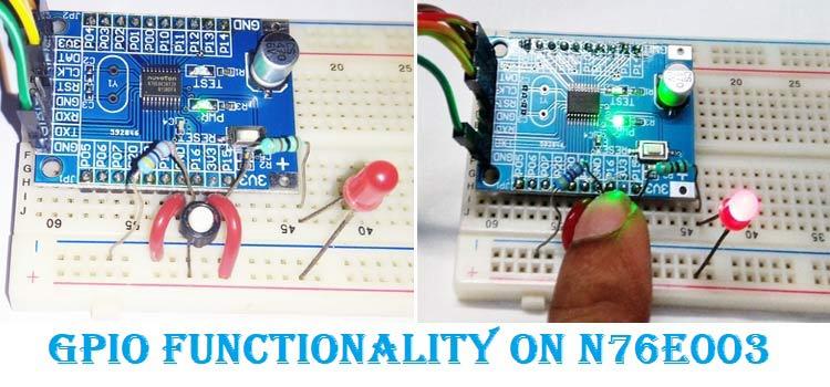 GPIO Functions on Nuvoton N76E003