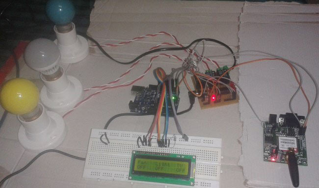 GSM Based Home Automation Using Arduino