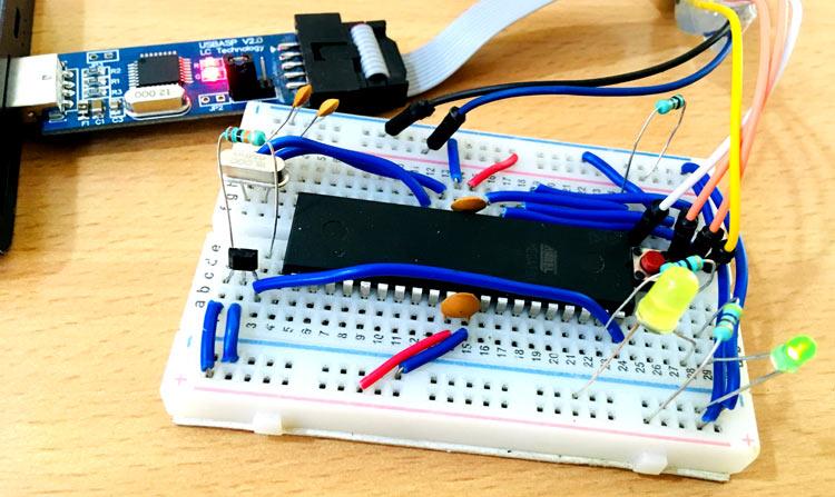 Hall Sensor Interfacing with AVR Microcontroller ATmega16