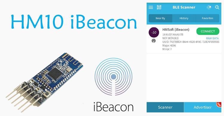 How to setup HM-10 BLE Module as iBeacon