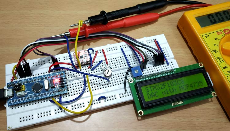 How to use Digital-to-Analog Converter (DAC) with STM32F10C8 Blue Pill Board