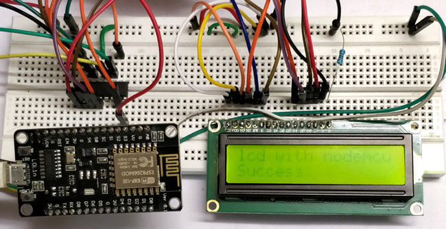 Interface LCD with ESP12 using Shift Register SN74HC595N