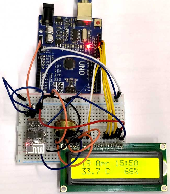 Interfacing Arduino with ESP8266 - Reading Data from Internet