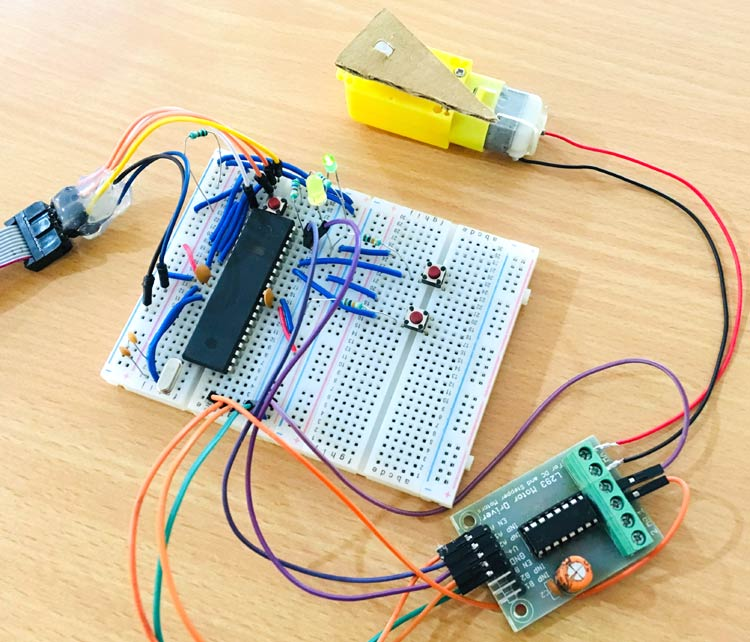 Interfacing DC Motor with AVR Microcontroller Atmega16