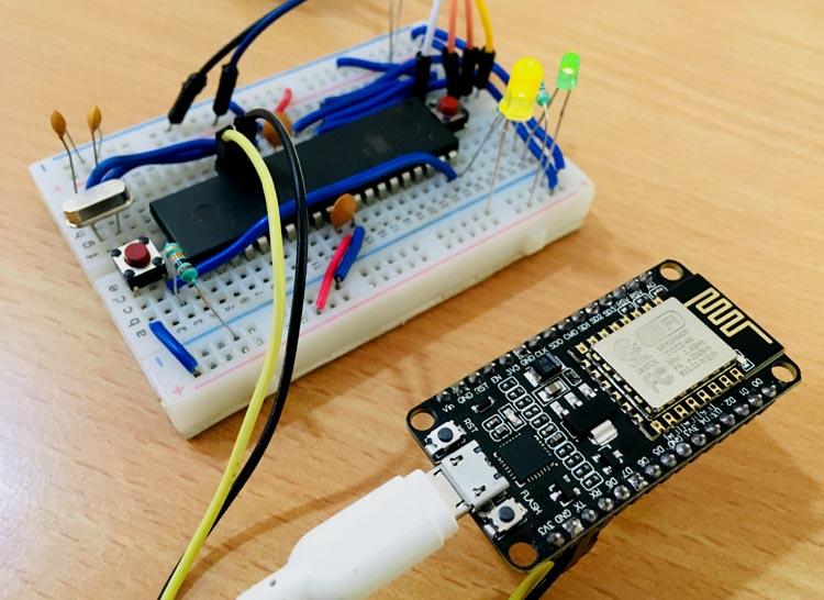 Interfacing ESP8266 NodeMCU with AVR Microcontroller